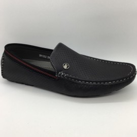 image of Men Shoes Black Color Lifestyle Casual Loafer Slip On Simple. ZORO