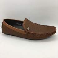 image of Men Shoes Coffee Brown Color Lifestyle Casual Loafer Slip On Simple. ZORO