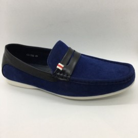 image of Men Shoes Blue Color Lifestyle Casual Loafers Slip On Suede Surface. CLARKSON