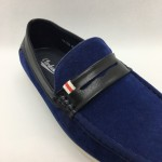 Men Shoes Blue Color Lifestyle Casual Loafers Slip On Suede Surface. CLARKSON