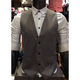 image of New Men's Vest Coat Suit Premium Quality. ASTON (Grey)