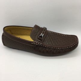 image of Men Shoes Brown Coffee Color Lifestyle Casual Loafer Slip On with Buckle. GPC