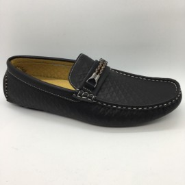 image of Men Shoes Black Color Lifestyles Casual Loafers Slip On with Buckle. GPC