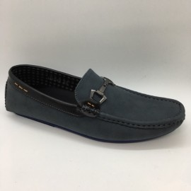 image of Men Shoes Grey Color Lifestyles Casual Loafers Slip On with Buckle. JEFF