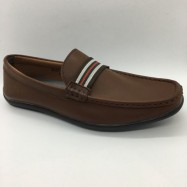 image of Men Shoes Brown Colour Business Casual Loafers Slip On Brown. GREEN POINT CLUB