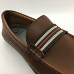 Men Shoes Brown Colour Business Casual Loafers Slip On Brown. GREEN POINT CLUB
