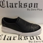 Men's Fashion Studs Shoes Black. JEFF