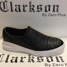 image of Men's Fashion Studs Shoes Black. JEFF