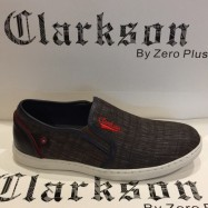 image of Men Shoes Coffee Brown Color Casual Lifestyles Slip on Textile Shoes. CLARKSON