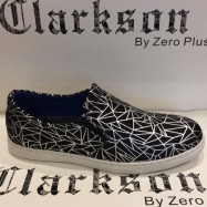 image of Men Shoes Black Silver Color Casual Lifestyles Slip on Textile Shoes. CLARKSON