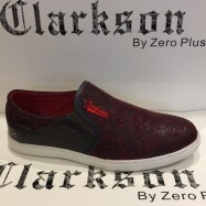 image of Men Shoes Red Maroon Color Casual Lifestyles Slip on Textile Shoes. CLARKSON