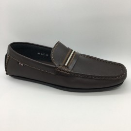 image of Men Shoes Coffee Brown Color Casual Lifestyles Loafer Slip On Brown. JEFF