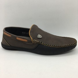 image of Men Shoes New Suede Fabric Brown Colour Casual Loafers Slip On Shoes. JEFF