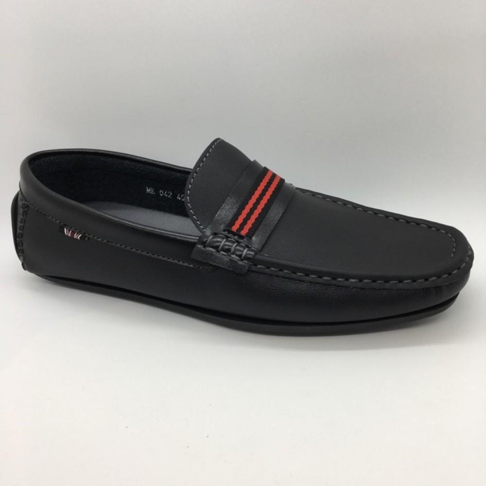 Men Shoes Black Color Business Casual Lifestyles Loafer Slip On. JEFF
