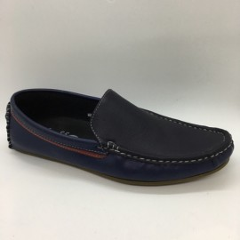 image of Men Shoes Blue Red Color Lifestyles Casual Loafers Slip On with Buckle. JEFF
