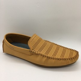 image of Men Shoes Brown Khaki Lifestyles Casual Loafers Slip On Breathable Holes. JEFF