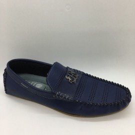 image of Men Shoes Blue Color Lifestyles Casual Loafers Slip On Breathable Holes. JEFF