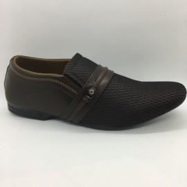 image of Men Shoes Brown Khaki Colour Lifestyles Casual with Buckle. JEFF