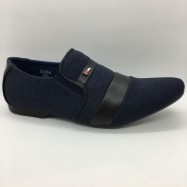 image of Men Shoes Navy Blue Colour Lifestyles Casual with Buckle. JEFF