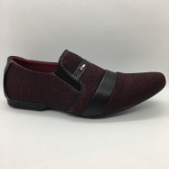 image of Men Shoes Maroon Red Colour Lifestyles Casual with Buckle. JEFF
