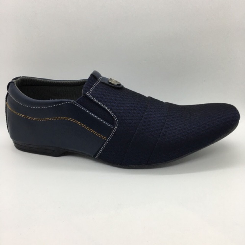 Men Shoes Navy Blue Colour Lifestyles Casual with Buckle. JEFF