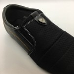 Men Shoes Black Colour Lifestyles Casual with Buckle. JEFF