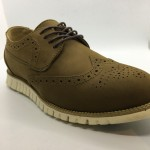 Men Leather Shoes Wingtip Oxford Khaki Brown Color Lace-Up (Cole Haan). HUNTER