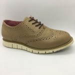 Men Leather Shoes Wingtip Oxford Whisky Brown Color Lace-Up (Cole Haan). HUNTER