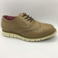 image of Men Leather Shoes Wingtip Oxford Whisky Brown Color Lace-Up (Cole Haan). HUNTER