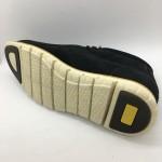 Men Leather Shoes Mid-Cut Suede Black Color 2Holes Lace-Up. HUNTER