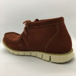 Men Leather Shoes Mid-Cut Suede Whisky Brown Color 2Holes Lace-Up. HUNTER