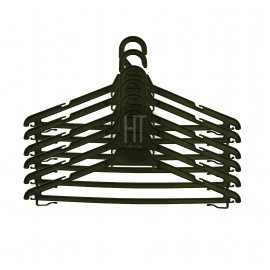 image of Laundry Hanger (BLACK) 72 Pcs (Hanger Dobi) with Hanging Clips