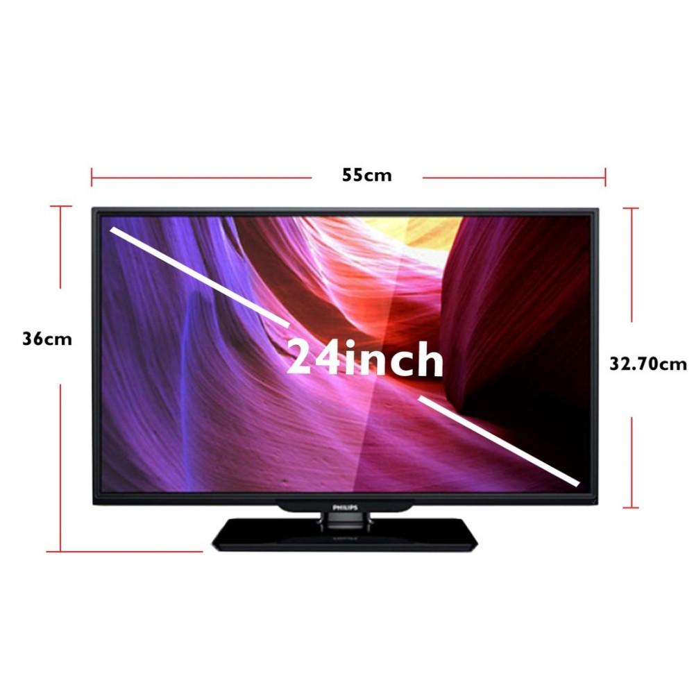 "PHILIPS 24"" HD LED TV / MONITOR 24PHA4110S w VGA Input [New Model]"