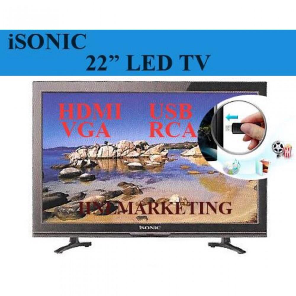 "Isonic LED TV 22"" Super Slim"