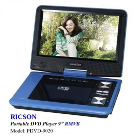 "image of RICSON PORTABLE DVD PLAYER 9"" PDVD-9020"