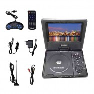 "image of Phison Portable DVD Player PD-780 (7"" TFT LED) Rechargeable + USB"