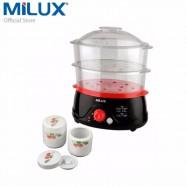 image of Milux 2-In-1 Food Steamer MFS-8001 [ free CERAMIC STEW POT & RICE BOWL ]
