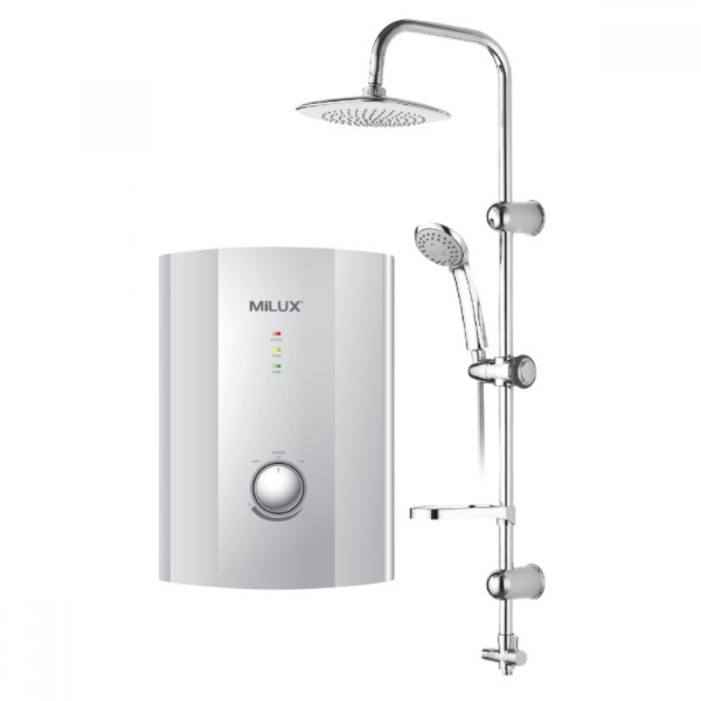Milux Water Heater with Rain shower ML-638ER with Pump