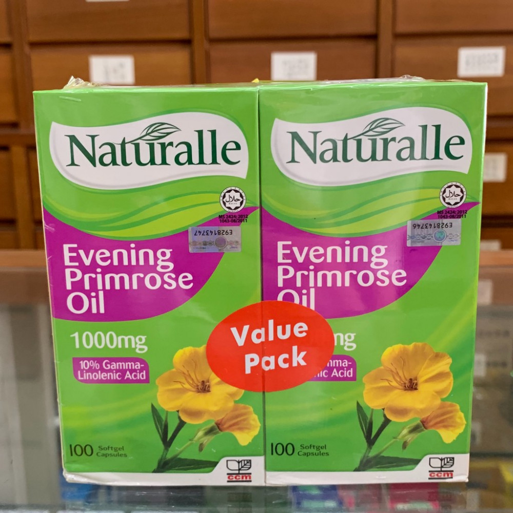 Naturalle Evening Primrose Oil (Twin Pack)月见草油 ,1000mg/ 100 soft capsules