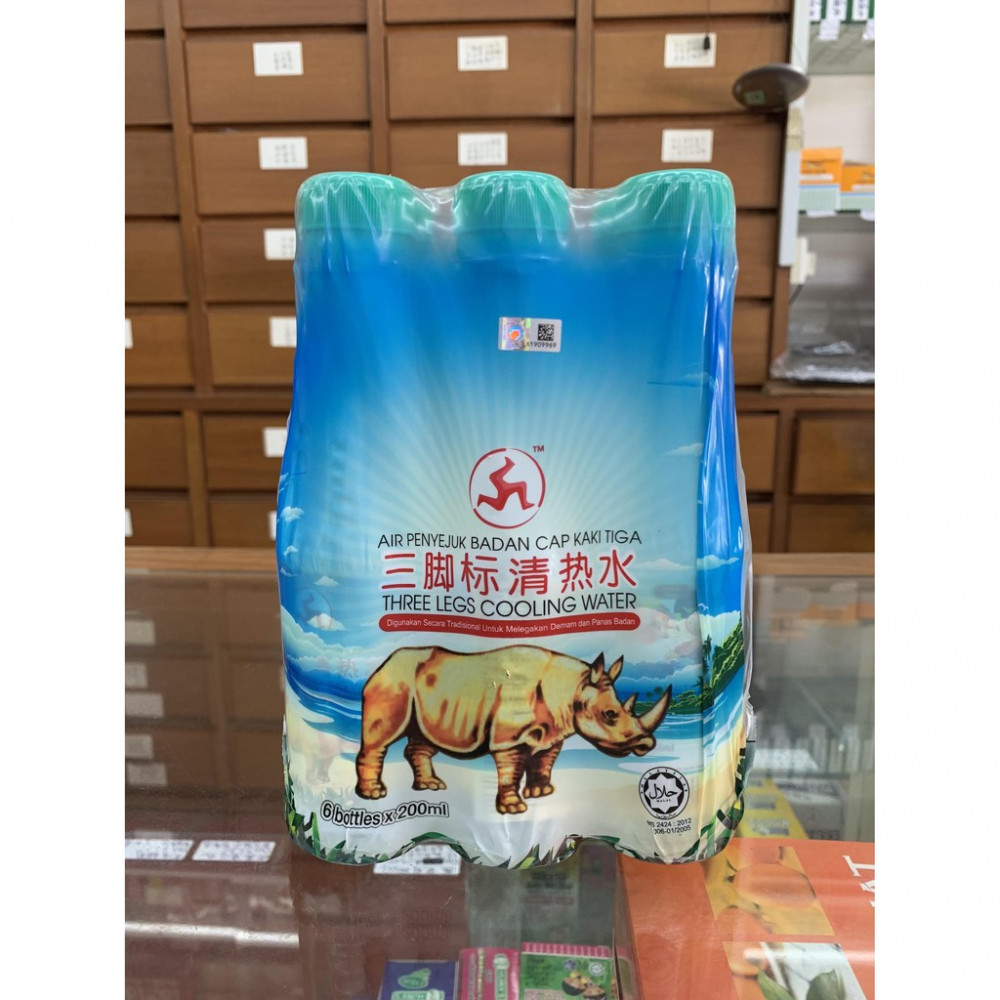 Three Legs Cooling Water 三脚标清热水(6 bottles x 200ml)
