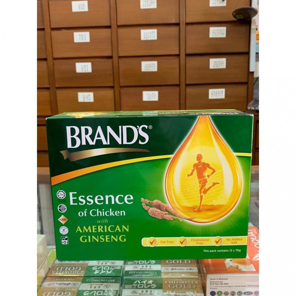 Brand's Essence of Chicken with American Ginseng 白兰氏鸡精花旗参(12 x 70g)
