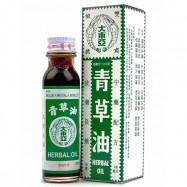 image of 青草油 Tai Dong Ah Double Prawn Brand Herbal Oil 28ML